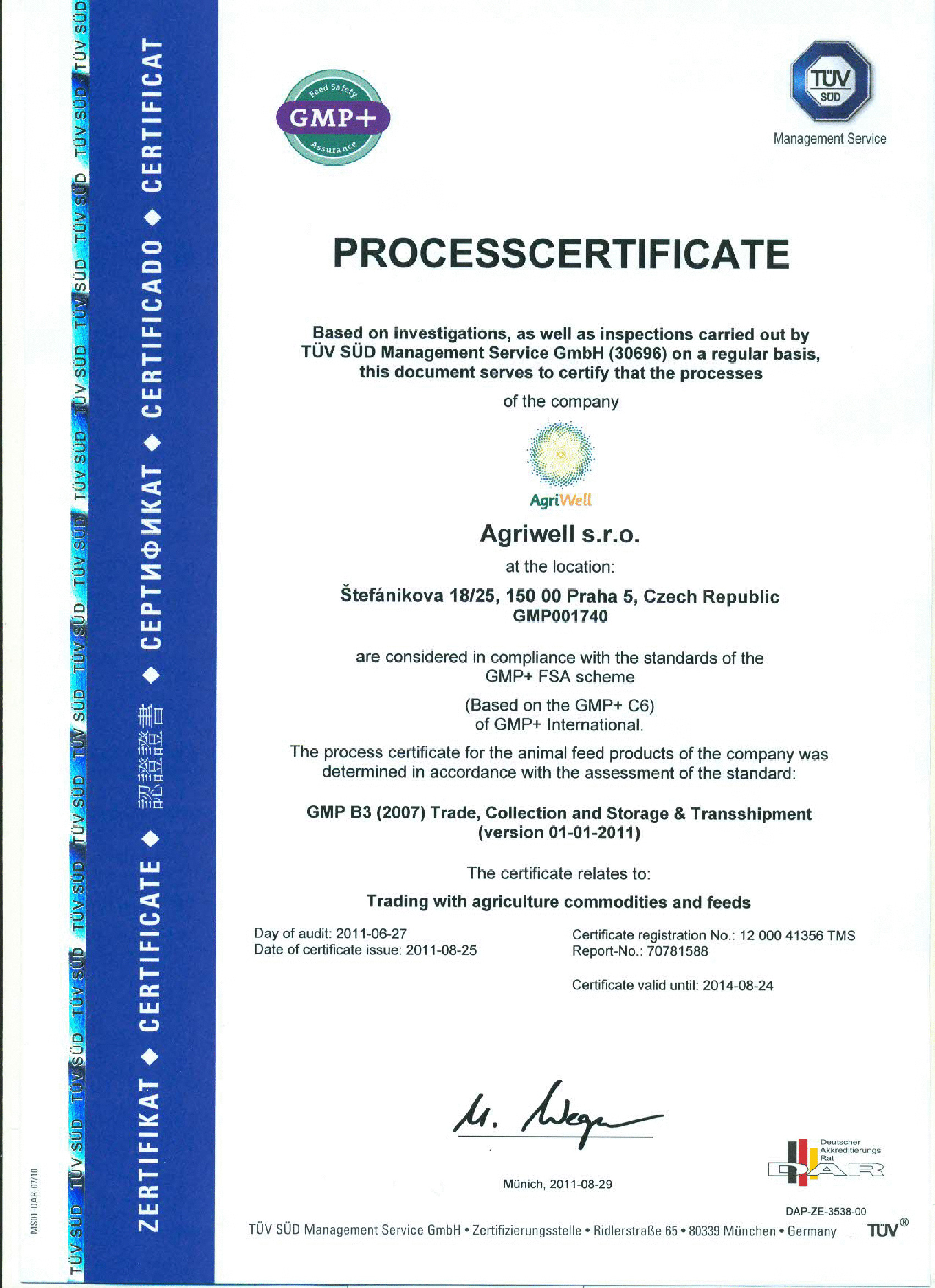 Certificates — Agriwell